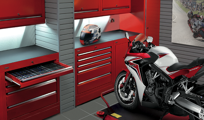 Motorcycle Enthusiasts Tool Cabinet.