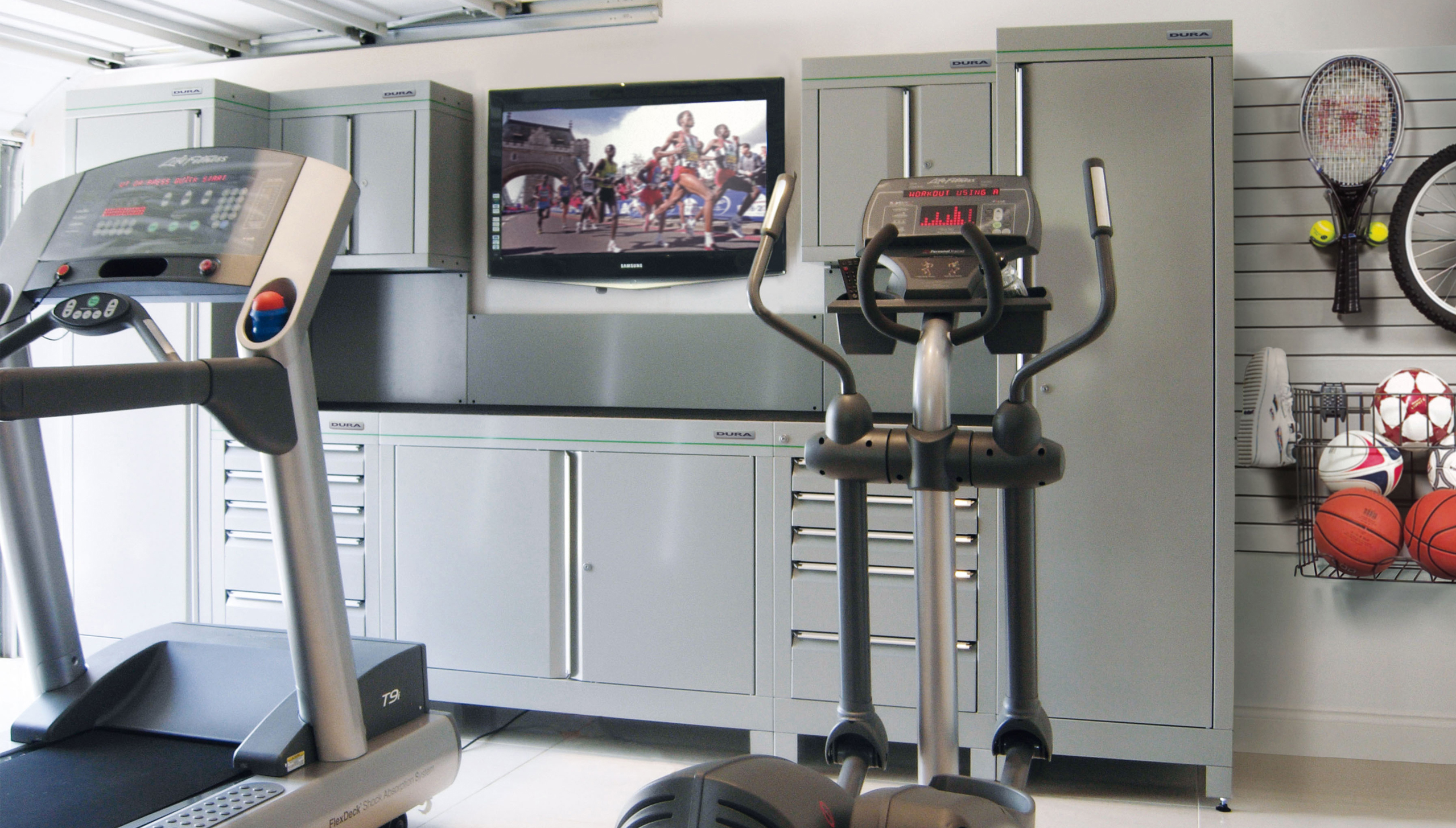 Garage gym s cyclist garages from experts dura